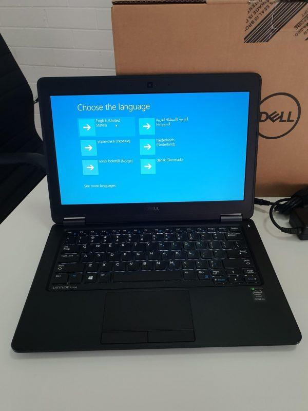 Refurbished Dell Latitude e5270 laptop front view screen on