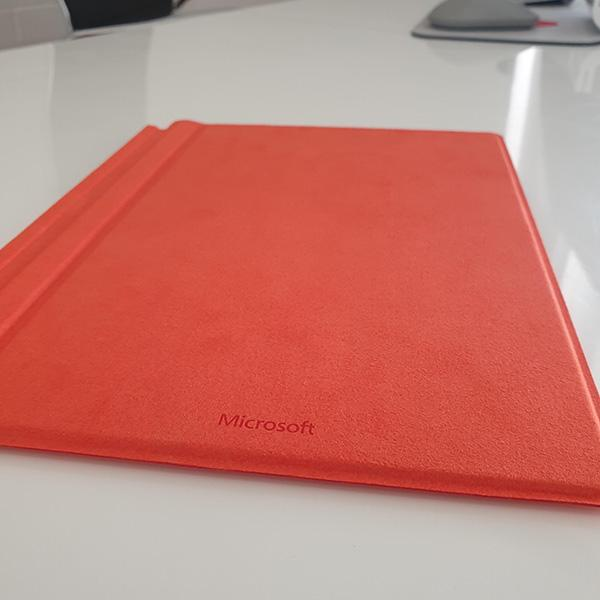 Microsoft Surface 3 Type Cover Red back view