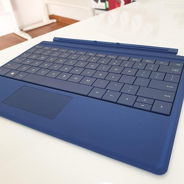 Microsoft Surface 3 Type Cover Blue front view