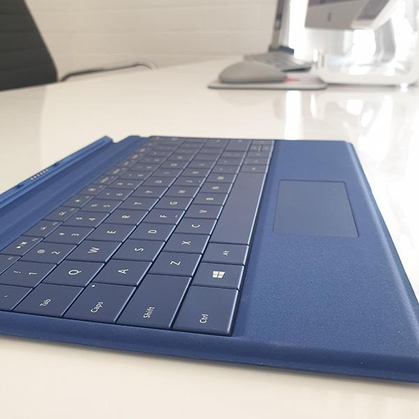 Microsoft Surface 3 Type Cover Blue side view