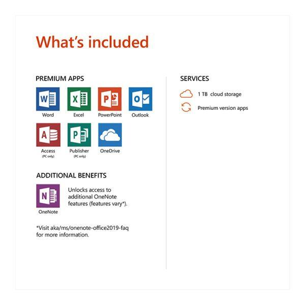 Microsoft Office Personal subscription inclusions