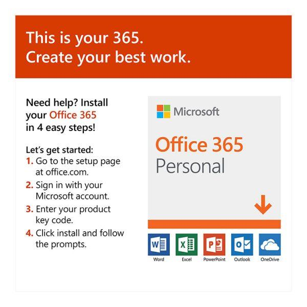Microsoft Office 365 personal install instruction