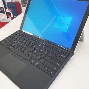 Refurbished Microsoft Surface Pro 4 with black keyboard