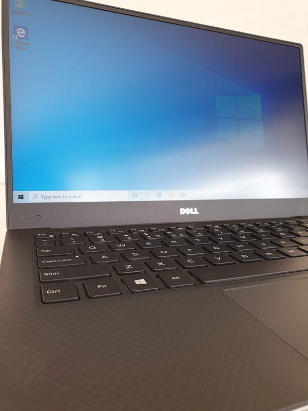Refurbished Dell XPS 13 9350 laptop front closeup